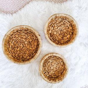 Boho Bamboo Nesting Baskets-Set of 3